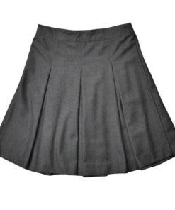 Girls Pleated Charcoal Skirt